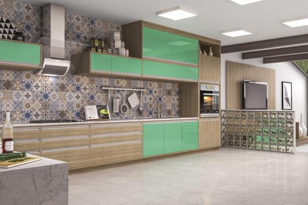 [Cozinha Home 2 Murano Acqua]